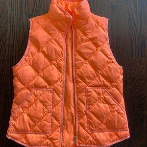 J. Crew women's vest in bright orange